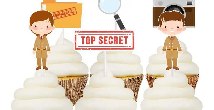 Spionnen en detective cupcaketoppers