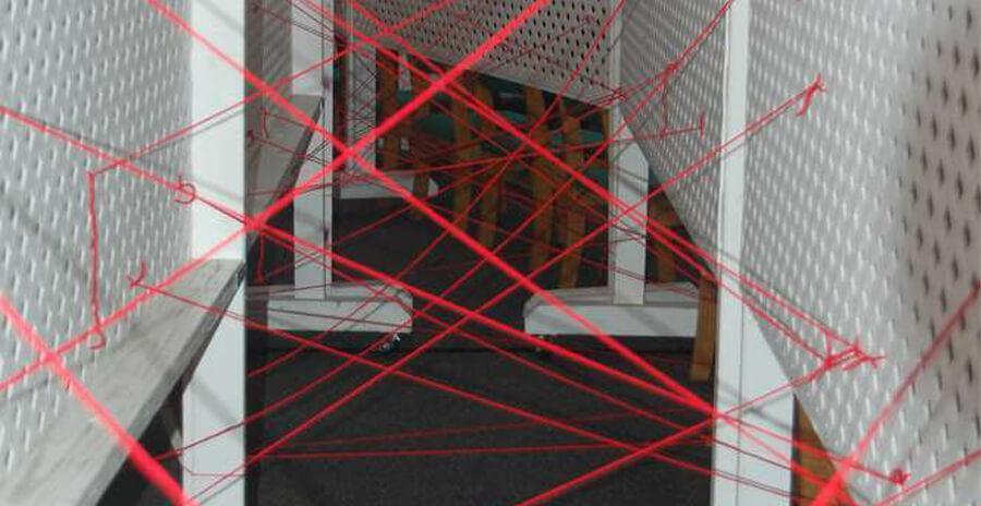 Laserparcours voor spionnen kinderfeestje
